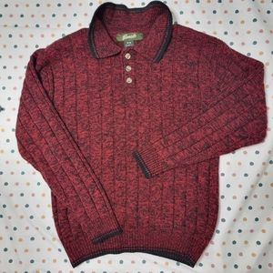 Vintage Penman's Red Cable Knit Pollo Pullover